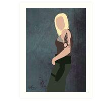 Battlestar Glactica minimal Lt Starbuck / Kara Thrace Art Print