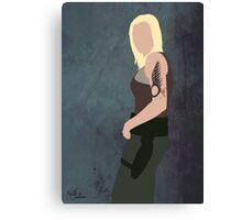 Battlestar Glactica minimal Lt Starbuck / Kara Thrace Canvas Print