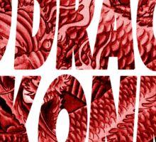 Red Dragon ( ILoveMakonnen ) Sticker