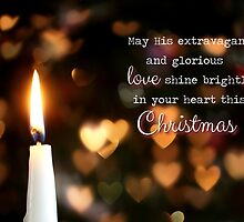 His Love Shines Brightly - Christmas Card by Tracy Friesen