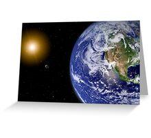 Digitally enhanced planet Earth. Greeting Card