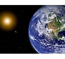 Digitally enhanced planet Earth. Photographic Print