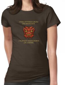 Smaug Quotes-Colbert Report- Sherlock Womens Fitted T-Shirt