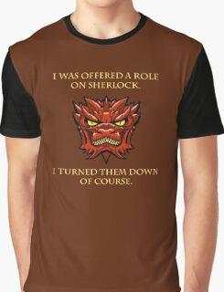 Smaug Quotes-Colbert Report- Sherlock Graphic T-Shirt