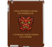 Smaug Quotes-Colbert Report- Sherlock iPad Case/Skin