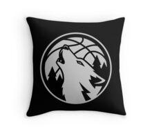 Minnesota timberwolves grey Throw Pillow