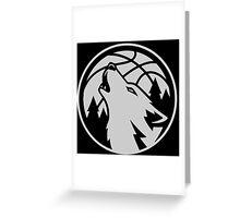 Minnesota timberwolves grey Greeting Card