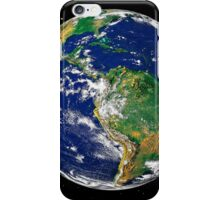 Full Earth showing South America (with stars). iPhone Case/Skin
