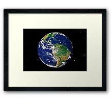 Full Earth showing South America (with stars). Framed Print