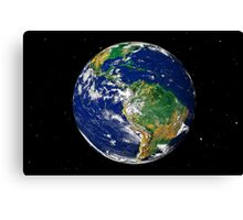 Full Earth showing South America (with stars). Canvas Print