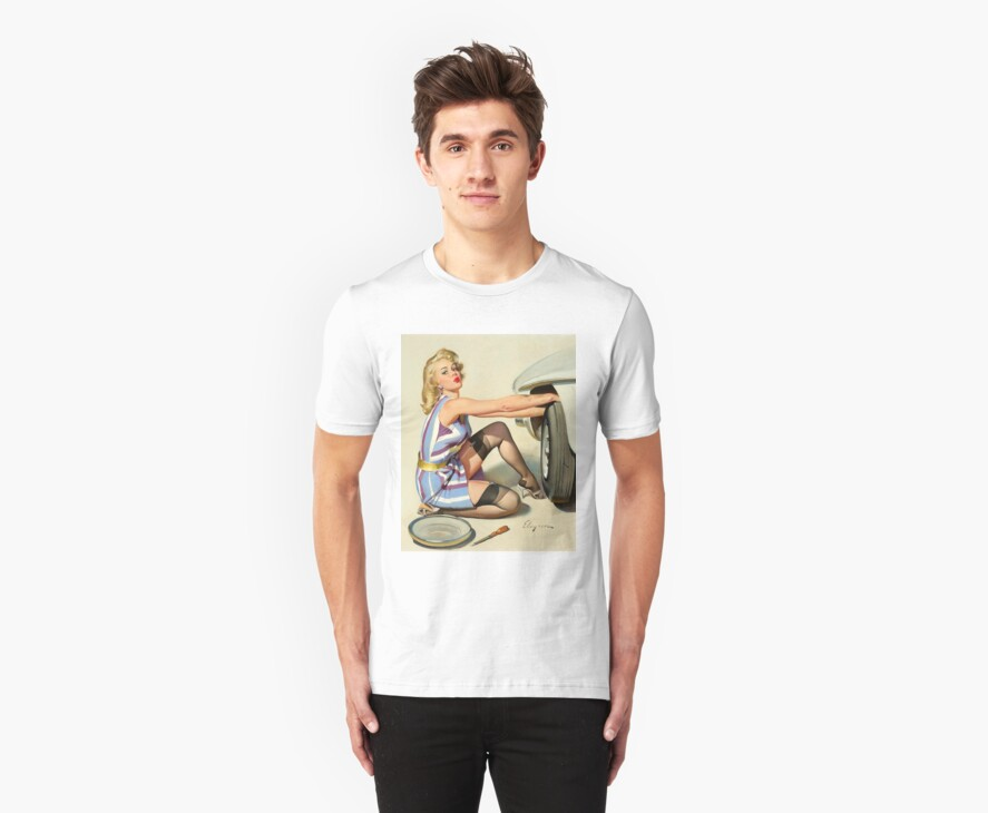 Gil Elvgren Appreciation T-Shirt no. 02 by masspleasurestv