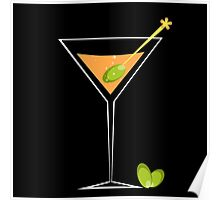 Cocktail and Olive Poster