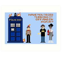 Doctor Who Calls IT Crowd  Art Print