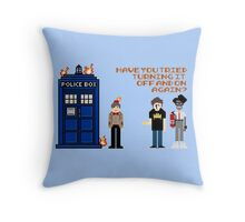 Doctor Who Calls IT Crowd  Throw Pillow