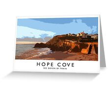 Hope Cove (Railway Poster) Greeting Card