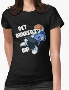 Sans - Undertale - GET DUNKED ON! Womens Fitted T-Shirt