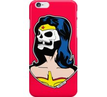 Wonder Woman Skull Pop Art Bust iPhone Case/Skin