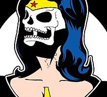 Wonder Woman Skull Pop Art Bust by zombieCraig