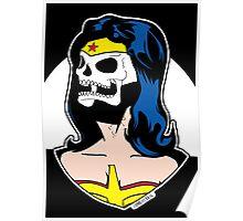 Wonder Woman Skull Pop Art Bust Poster