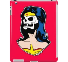 Wonder Woman Skull Pop Art Bust iPad Case/Skin