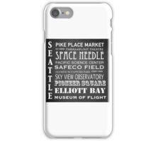 Seattle Famous Landmarks iPhone Case/Skin