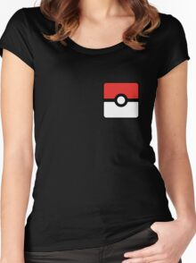 Pokeball square Women's Fitted Scoop T-Shirt