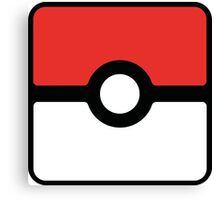 Pokeball square Canvas Print
