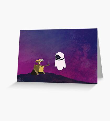 Wall-e minimal pop art design Greeting Card
