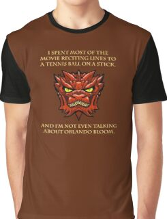 Smaug Quotes-Colbert Report- Orlando Bloom Graphic T-Shirt