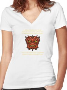 Smaug Quotes-Colbert Report- Orlando Bloom Women's Fitted V-Neck T-Shirt