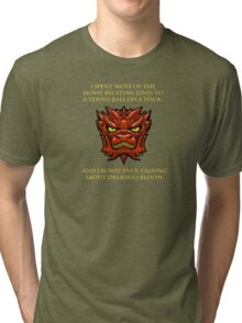 Smaug Quotes-Colbert Report- Orlando Bloom Tri-blend T-Shirt