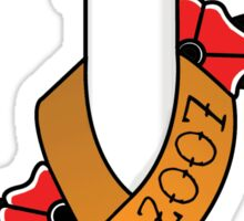 Virginia Tech Awareness Ribbon Sticker