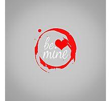 "Cute Modern ""Be Mine"" Valentine Photographic Print"