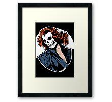 Black Widow Skull Pop Art Bust Framed Print