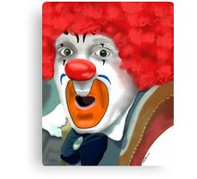 Surprised Clown Canvas Print