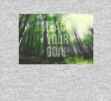 Motivational poster with the text Reach Your Goal. Nature forest background Unisex T-Shirt