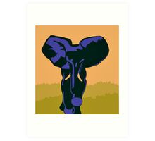 Blue elephant modern pop art Art Print