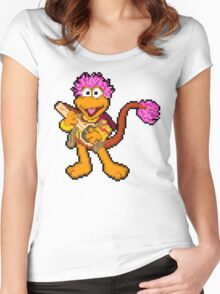 Down at Pixel Rock - Gobo Women's Fitted Scoop T-Shirt