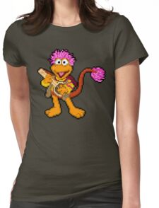 Down at Pixel Rock - Gobo Womens Fitted T-Shirt