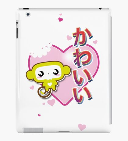 Kawaii Kute Hungry Monkey Pink iPad Case/Skin