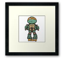 "mikey ""TMNT"" Framed Print"
