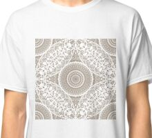 Decorative Lace Doily Seamless Pattern Classic T-Shirt
