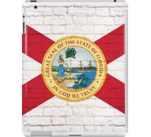 Florida flag grunge brick wall iPad Case/Skin