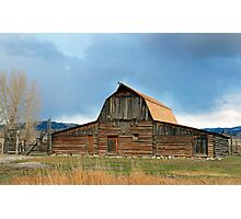 Historic Timber Barn Photographic Print