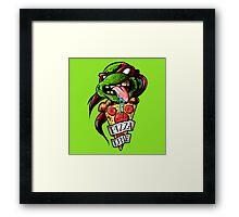 Raph Pizza Time Framed Print