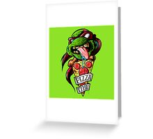 Raph Pizza Time Greeting Card