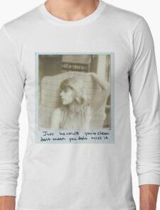 taylor swift clean  Long Sleeve T-Shirt