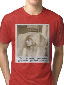 taylor swift clean  Tri-blend T-Shirt