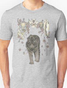 The Hunter (Tiger, Skulls and blossoms) Unisex T-Shirt