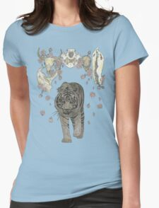 The Hunter (Tiger, Skulls and blossoms) Womens Fitted T-Shirt
